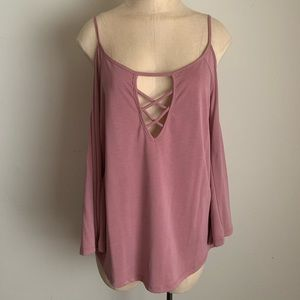 ACTIVE USA Exposed Shoulder Blouse